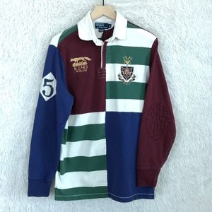 Vintage Rugby Shirt Wolf Crest Polo Ralph Lauren